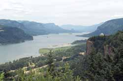 Columbia River Gorge, Looking East past Crown Point