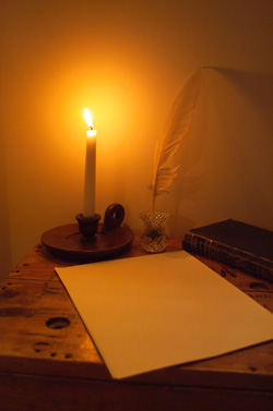 Candle Lit Writing Table