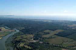 Aerial View, Looking South Toward Salt Works From Fort Clatsop